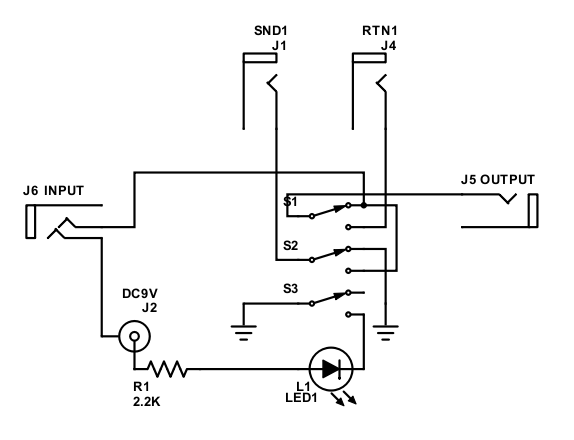 Circuit of switching box