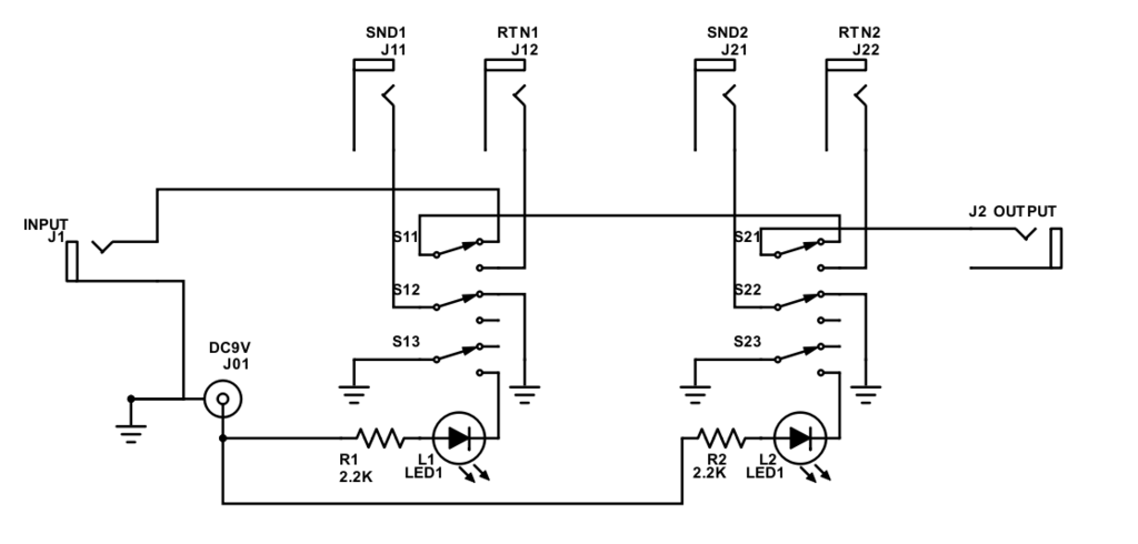 Circuit of switching box 3