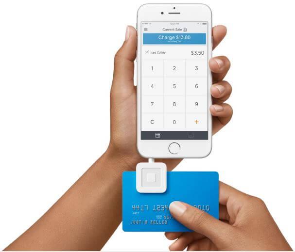 モバイル決済をPOS端末で可能にする可能にするSquareの機器