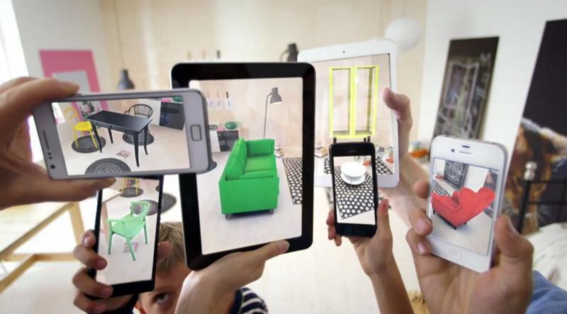 自分の部屋(現実世界)に家具を仮想的に配置できるIKEAのARサービス