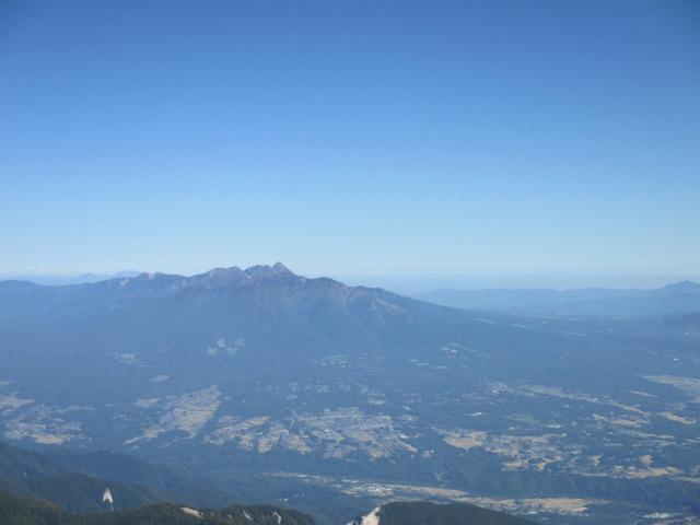 甲府盆地と八ヶ岳