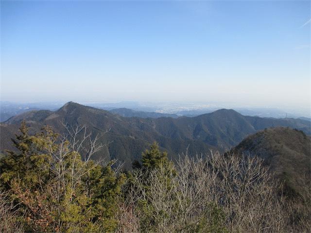 御岳山稜線