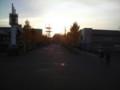 夕暮れの余目駅前