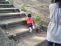 花見よりも階段登り・・