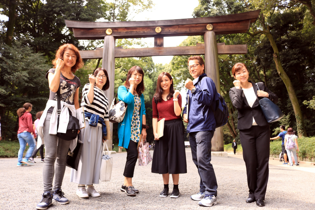 参加者が英語ボランティアガイド挑戦
