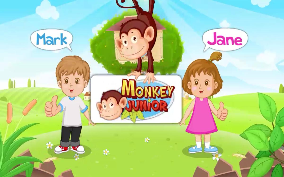 モンキージュニア:子供向けの英語と、早期教育