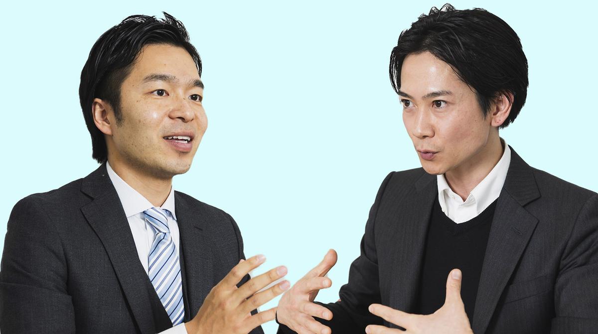 スパルタ英会話創業者の小茂鳥雅史さんとCashEngine代表の田井譲さん