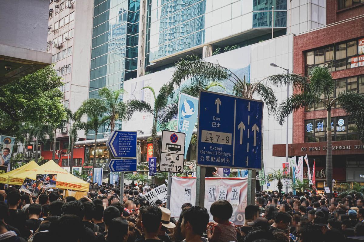 香港の大規模なデモ