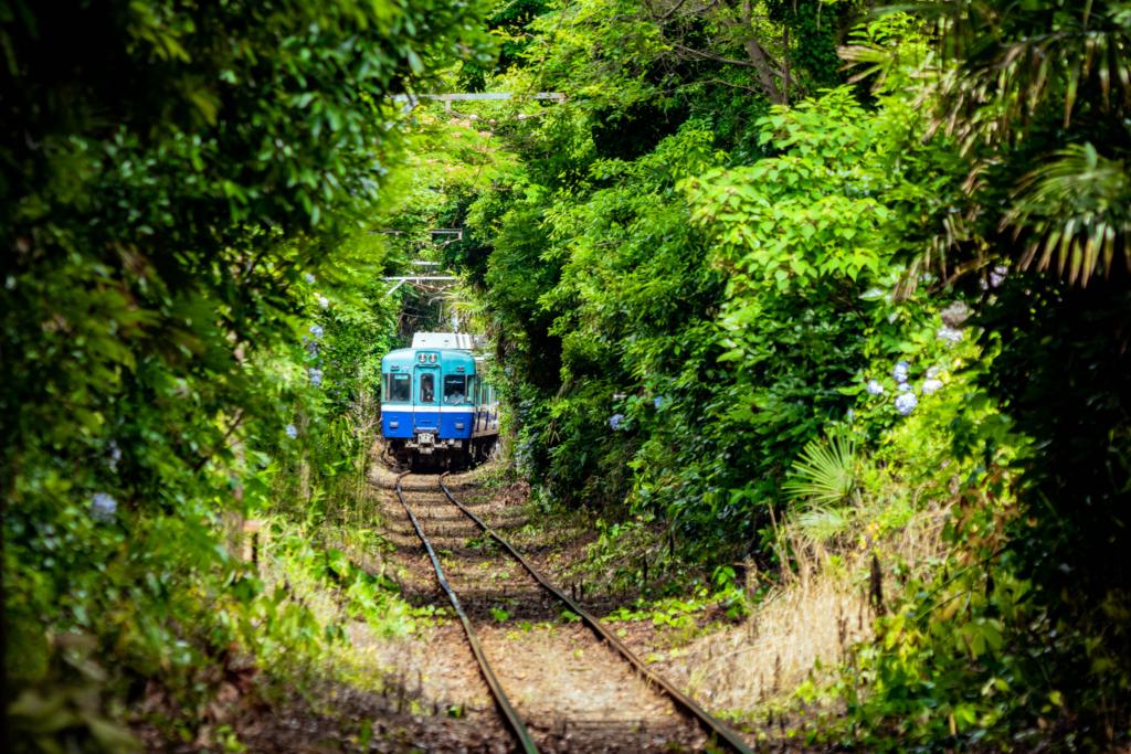 銚子電鉄と恋のトンネル
