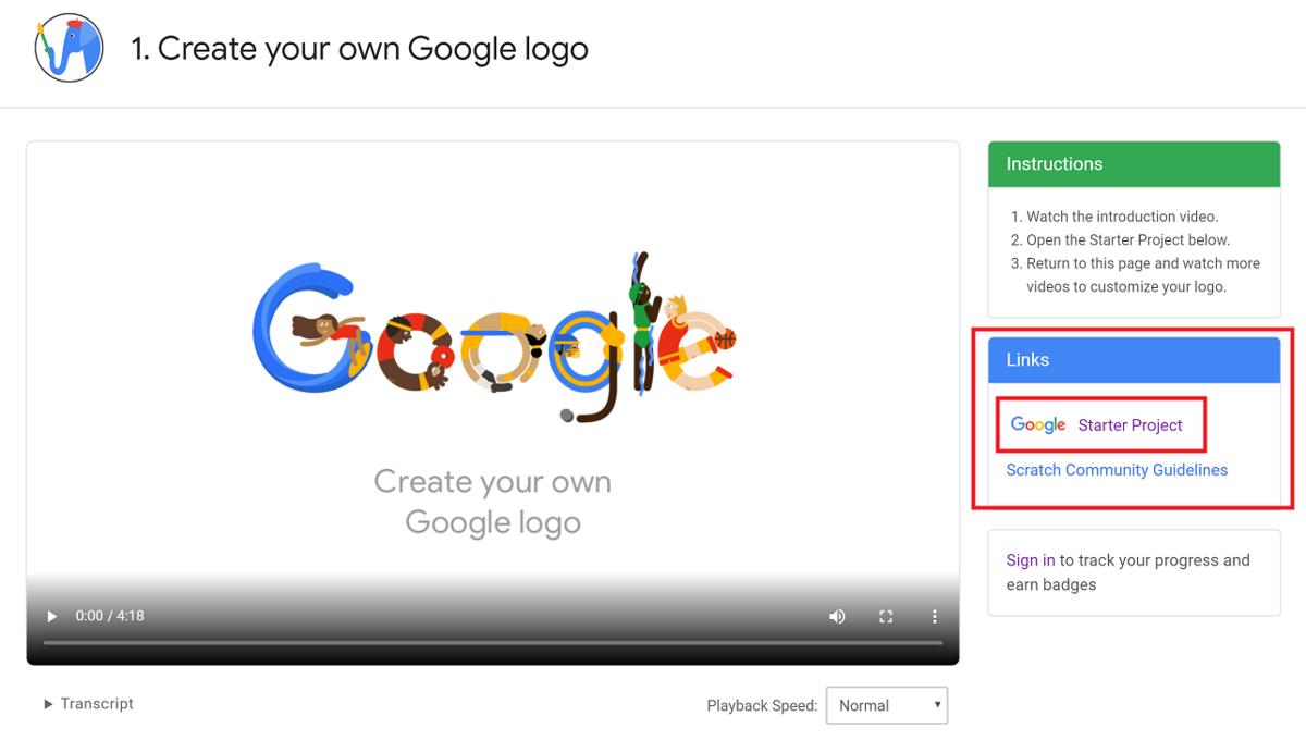Create your own Google logo