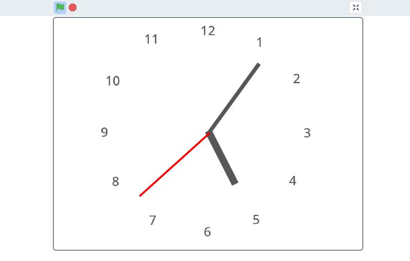 Scratch(スクラッチ)で作るシンプルな時計
