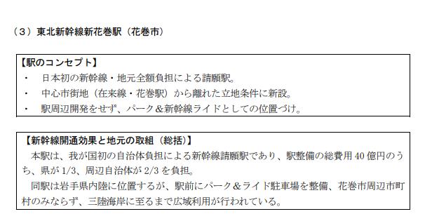 東北新幹線新花巻駅