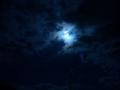 [電柱][空]月