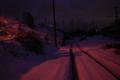 [雪][電柱]影