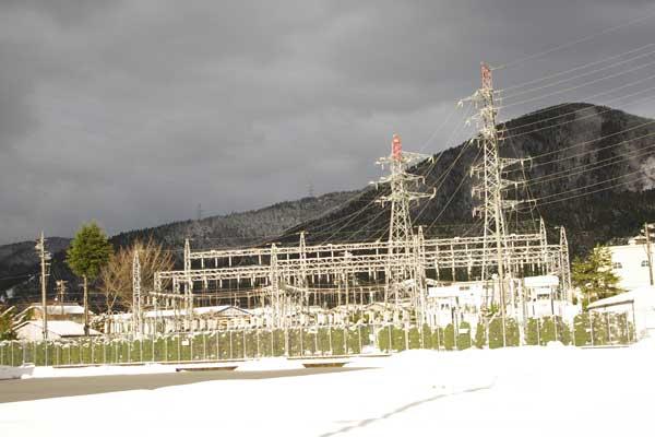 [空][雪][鉄塔]