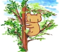 [くま絵]木登り
