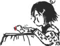 [ようせい][女の子絵]はてなハイカーさん、女の子の横顔のイラスト欲しい!
