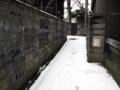 [雪][路地]