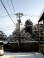 [空][雪][電柱]