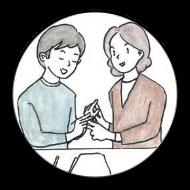 触手話のイラスト