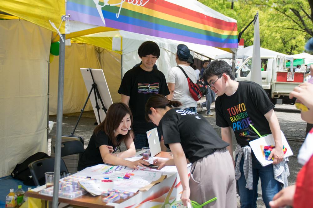 Tokyo Rainbow Pride出展時の写真