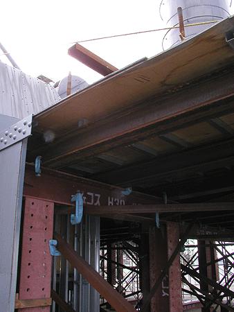 甲板裏側骨組