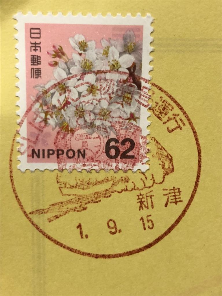 ハガキの切手と消印