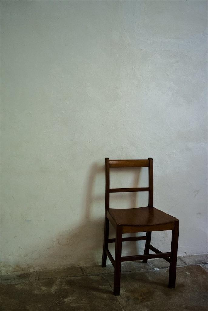 ポツンと置かれた椅子