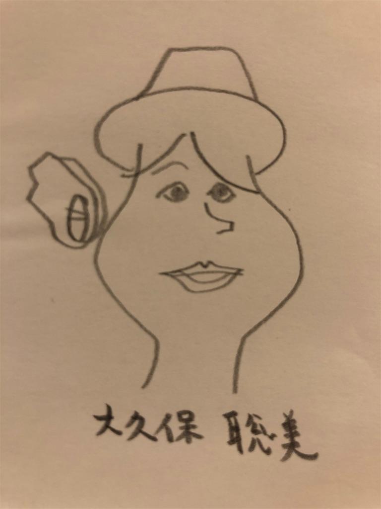 大久保聡美の似顔絵
