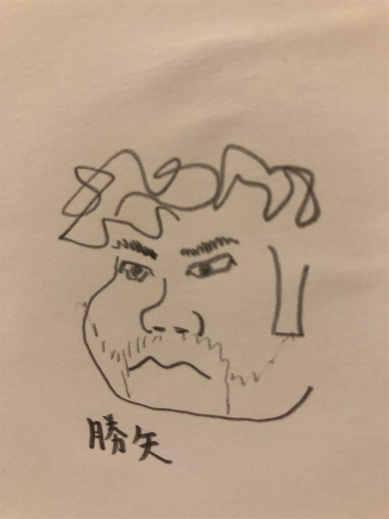 勝也の似顔絵