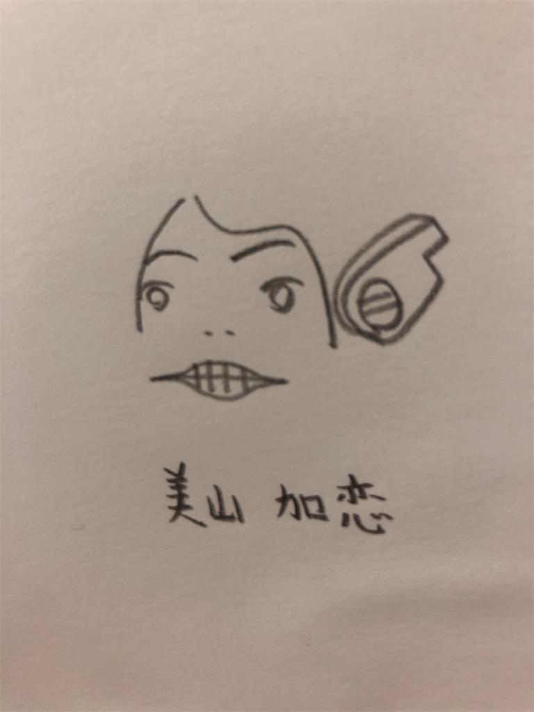 美山加恋の似顔絵