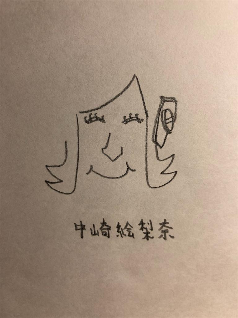 中崎絵梨奈の似顔絵