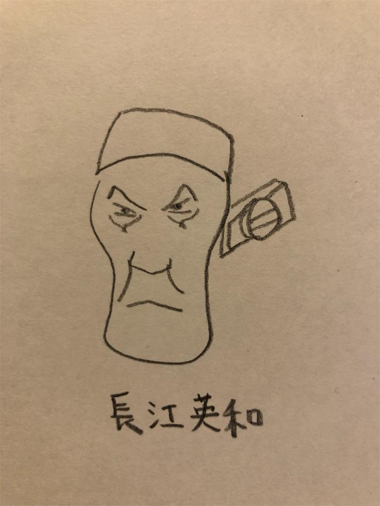 長江英和の似顔絵