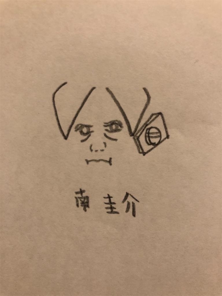 南圭介の似顔絵