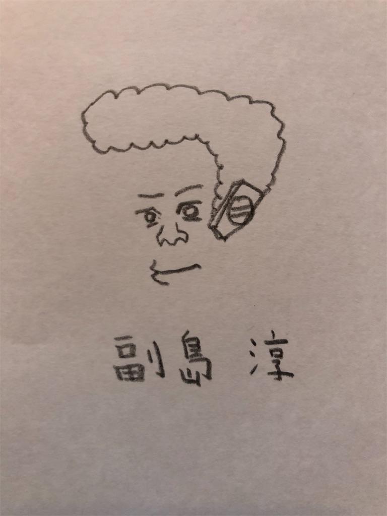 副島淳の似顔絵