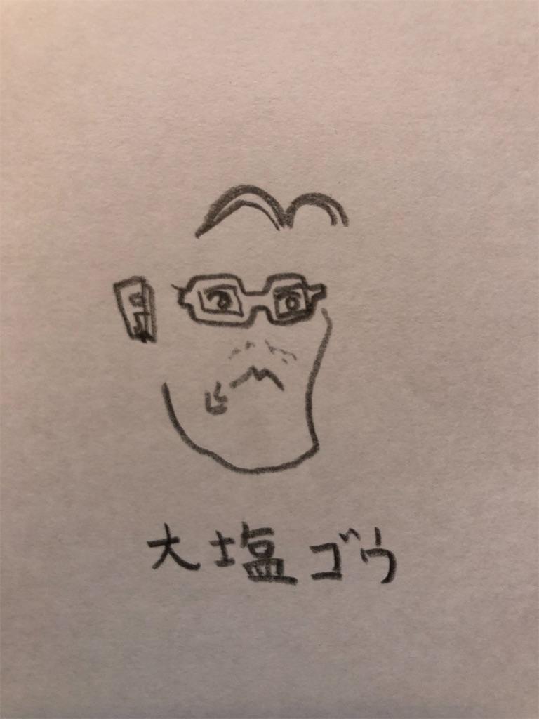 大塩ゴウの似顔絵