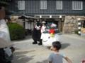 岡山城にゆるキャラ