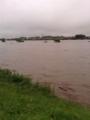 遠賀川増水の様子