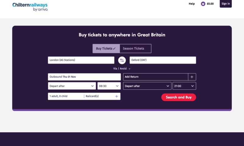 オックスフォードへ行く方法 (ロンドン-片道£5.40〜)/格安鉄道チケット購入サイト