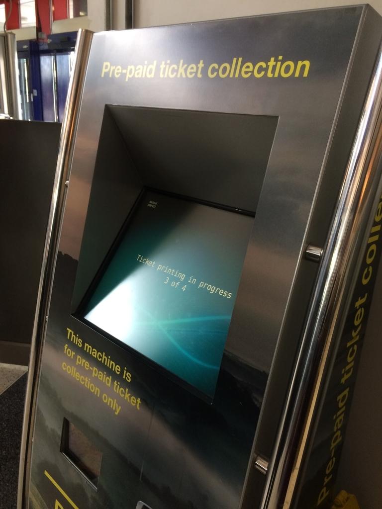 駅の発券機 オックスフォード