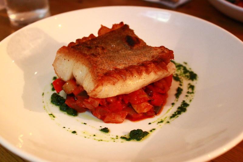 イギリスエディンバラのレストランBia Bistrot メイン(魚)