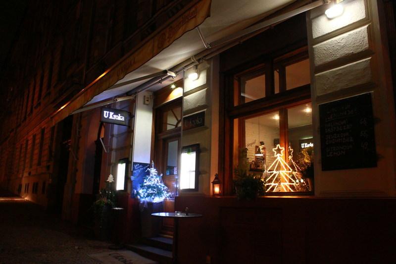 チェコプラハのレストラン U Kroka
