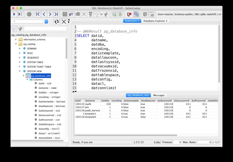 SQL Workbench/J で Amazon Redshift に接続する - ablog