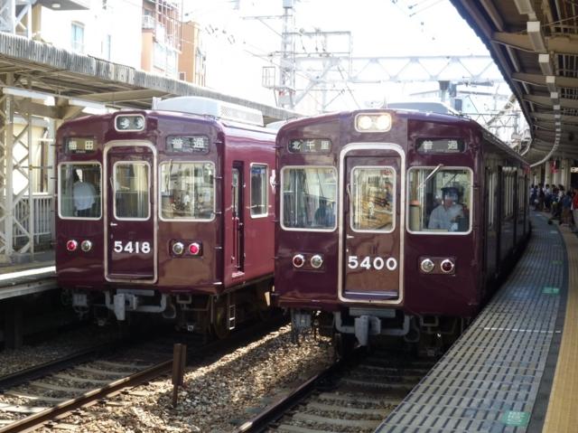 阪急5300系 阪急京都線普通と阪急5300系 阪急京都線普通