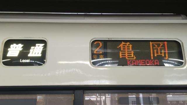 JR221系 普通|亀岡