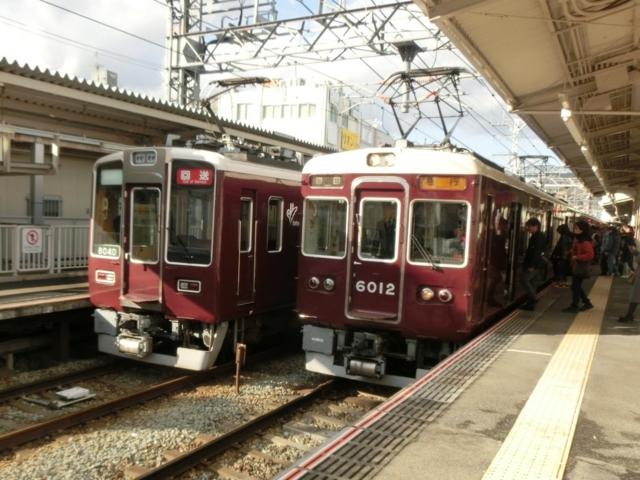 阪急8000系と阪急6000系