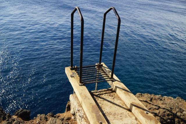 ハワイ島 サウスポイント 飛び込み ダイブ 15m 南端