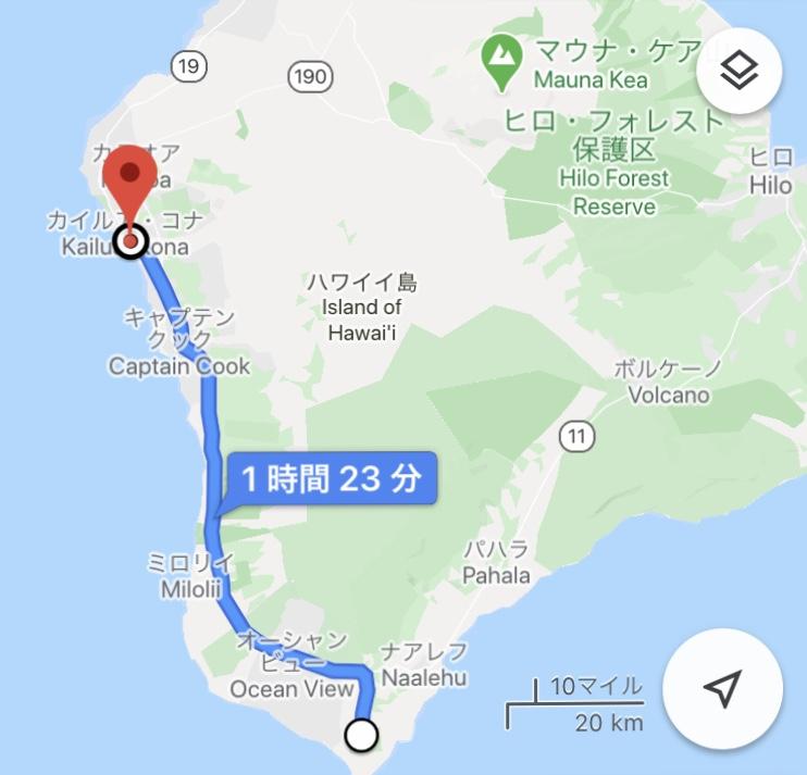 ハワイ島 サウスポイント 地図