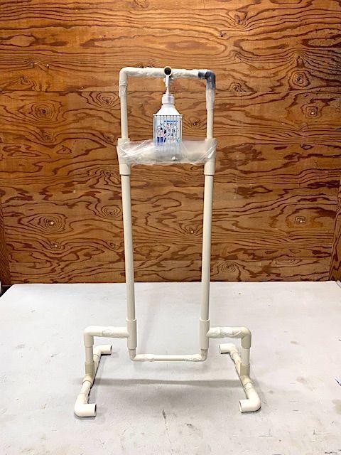 足踏み式 消毒液 自作 diy 塩ビ 簡単 作り方 作成 説明スタンド アルコール スプレー パイプ 管 足 押す 簡単 踏む 手を使わない ディスペンサー ソープ 消毒 噴射機 予算 安い ペダル