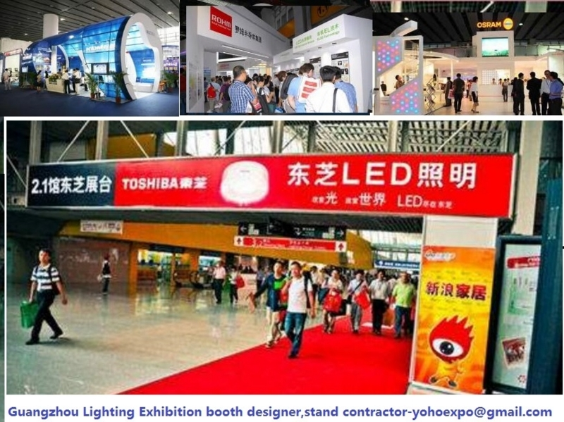 guangzhou lighting exhibition booth builder stand contractor